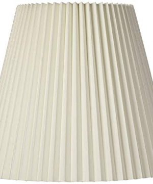Ivory Pleated Lamp Shade Traditional Unlined With Harp 10x17x1475 Spider Brentwood 0 300x360