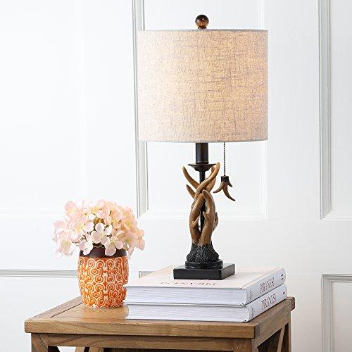 JONATHAN Y JYL1031A Mini Table Lamp 100 X 205 X 100 BlackBrown With Grey Shade 0 1