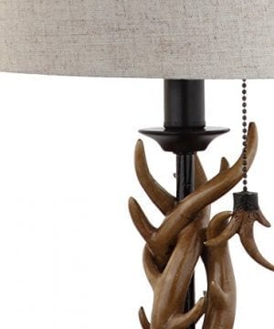JONATHAN Y JYL1031A Mini Table Lamp 100 X 205 X 100 BlackBrown With Grey Shade 0 3 300x360