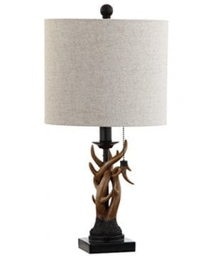 JONATHAN Y JYL1031A Mini Table Lamp 100 X 205 X 100 BlackBrown With Grey Shade 0 300x360