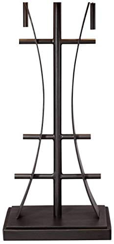 Jewel Tone Mission Table Lamp Iron Bronze Geometric Stained Glass Art Shade For Living Room Family Bedroom Bedside Robert Louis Tiffany 0 2