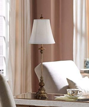 Juliette Traditional Buffet Table Lamps Set Of 2 Antique Gold Ornate Base White Bell Shade For Dining Room Regency Hill 0 0 300x360
