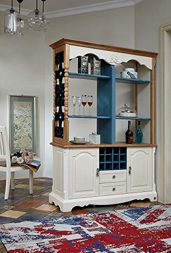KELINSHENG Decorative Cabinet, Showcase, Locker, Antique Display Cabinet,  Room Divider, Wine Cabinet Buffet Wooden top Buffet Cabinet, Suitable for  ...