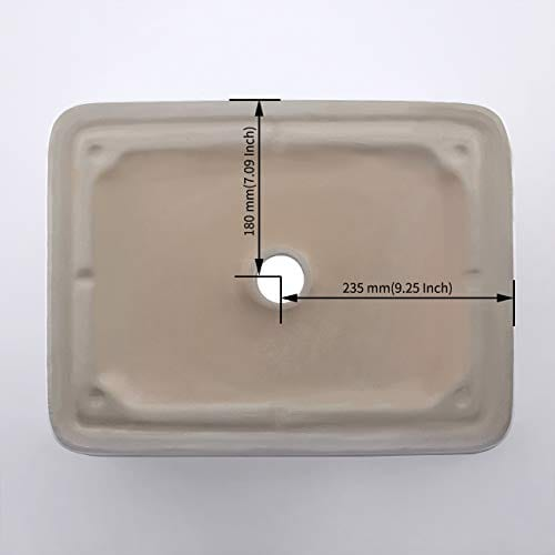 KES CUPC Bathroom White Rectangular Vessel Sink Above Counter Countertop Porcelain Bowl Sink For Lavatory Vanity Cabinet Contemporary BVS110 0 2
