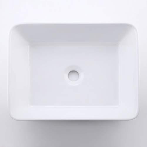 KES CUPC Bathroom White Rectangular Vessel Sink Above Counter Countertop Porcelain Bowl Sink For Lavatory Vanity Cabinet Contemporary BVS110 0 4
