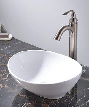 KINGO HOME Above Counter White Porcelain Ceramic Bathroom Vessel Sink 0 1 300x360