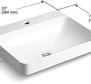 KOHLER K 2660 1 0 Vox Rectangle Vessel Bathroom Sink White 0 0 300x278