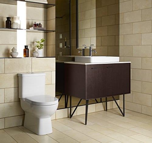 KOHLER K 2660 1 0 Vox Rectangle Vessel Bathroom Sink White 0 5