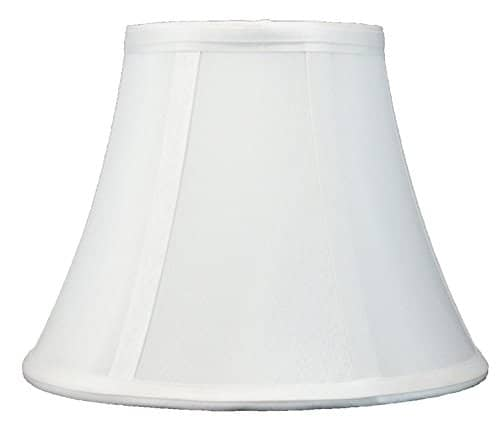 Urbanest Softback Bell Lampshade Faux Silk 5 Inch By 9 Inch By 7 Inch Off White Spider Fitter 0