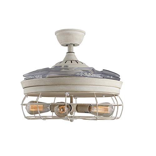 42 Ceiling Fans Invisible Retractable Blades Farmhouse Industrial Pendant Lamp Chandelier Remote Control 5 Edison Farmhouse Goals