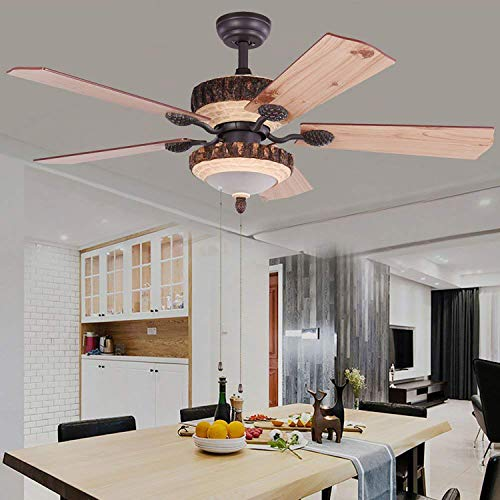 52 Inch Rustic Ceiling Fan With Lights