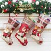 Aitey Christmas Stocking 18 Set Of 3 Santa Snowman Reindeer Xmas Character 3D Plush With Faux Fur Cuff Christmas Decorations And Party Accessory Short Hat2 0 100x100