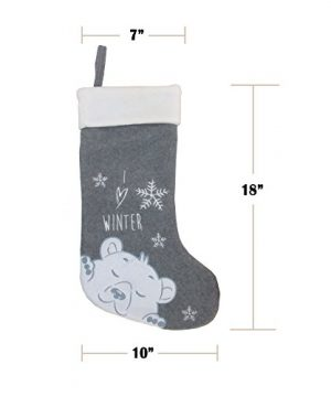 BambooMN 3 Pcs Set 18 Classic Hand Embroidered Sequined Cute Animal Chirstmas Stocking Assortment 96 0 2 300x360
