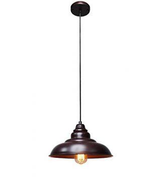 Barn Pendant Lights FINXIN 1 Light Hanging Light For Kitchen Dining Table FXPL01 Oil Rubbed Bronze 12 Ceiling Dome Pendant Lighting E26 Base Bronze 0 3 300x360
