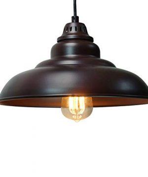 Barn Pendant Lights FINXIN 1 Light Hanging Light For Kitchen Dining Table FXPL01 Oil Rubbed Bronze 12 Ceiling Dome Pendant Lighting E26 Base Bronze 0 300x360