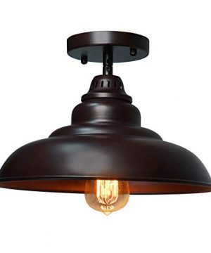 Barn Pendant Lights FINXIN 1 Light Hanging Light For Kitchen Dining Table FXPL01 Oil Rubbed Bronze 12 Ceiling Dome Pendant Lighting E26 Base Bronze 0 4 300x360