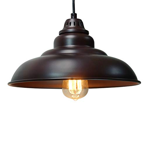 Barn Pendant Lights Finxin 1 Light Hanging For Kitchen Dining Table Fxpl01 Oil Rubbed Bronze 12 Ceiling Dome Lighting E26 Base