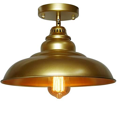 Barn Pendant Lights FINXIN 1 Light Hanging Light For Kitchen Dining Table FXPL03 Gold 12 Ceiling Dome Pendant Lighting E26 Base 0 0
