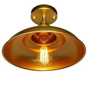 Barn Pendant Lights FINXIN 1 Light Hanging Light For Kitchen Dining Table FXPL03 Gold 12 Ceiling Dome Pendant Lighting E26 Base 0 4 300x360
