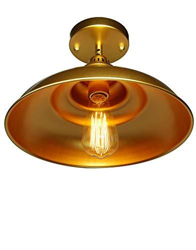 Barn Pendant Lights FINXIN 1 Light Hanging Light For Kitchen Dining Table FXPL03 Gold 12 Ceiling Dome Pendant Lighting E26 Base 0 4