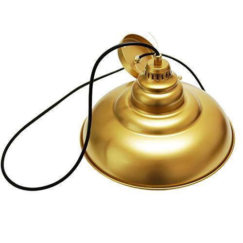 Barn Pendant Lights FINXIN 1 Light Hanging Light For Kitchen Dining Table FXPL03 Gold 12 Ceiling Dome Pendant Lighting E26 Base 0 5