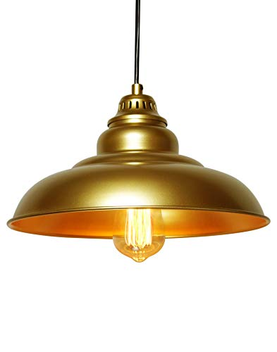 Barn Pendant Lights FINXIN 1 Light Hanging Light For Kitchen Dining Table FXPL03 Gold 12 Ceiling Dome Pendant Lighting E26 Base 0