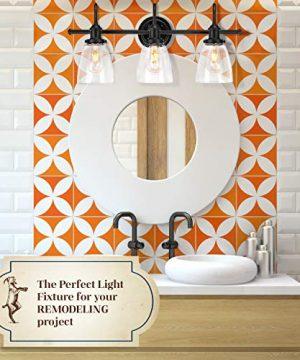 Bathroom Light Fixture Farmhouse Vintage Industrial 3 Light Bathroom Black Vanity Light Fixture 0 1 300x360