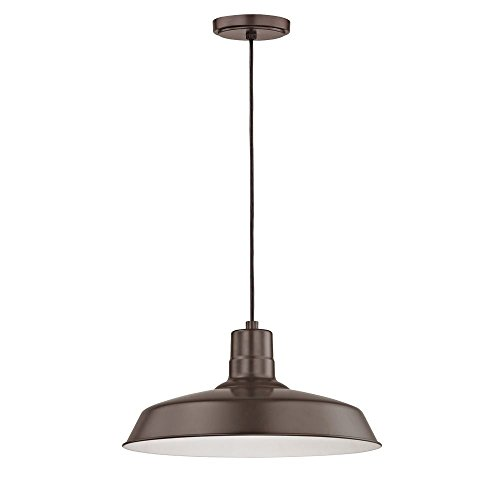 Bronze Cord Hung Pendant Barn Light With 16 Shade 0 0