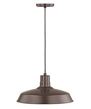 Bronze Cord Hung Pendant Barn Light With 16 Shade 0 1 300x360