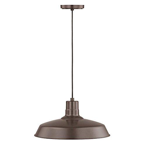 Bronze Cord Hung Pendant Barn Light With 16 Shade 0 1