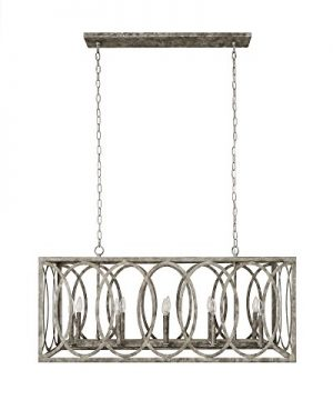 CHATRIE Large Gray French Country Rectangular Chandelier 45 Wide 0 0 300x360