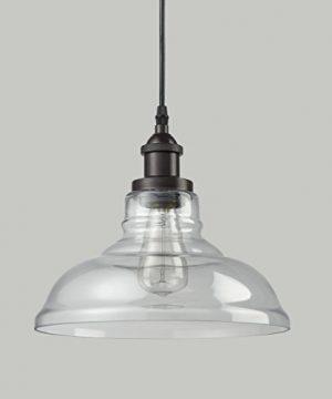 CLAXY Ecopower Industrial Edison Vintage Style 1 Light Pendant Glass Hanging Light 0 4 300x360