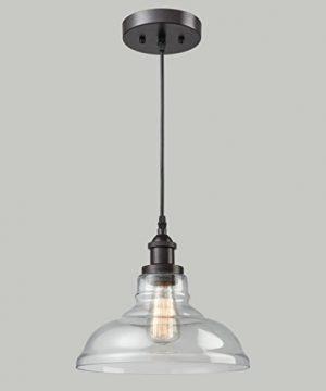 CLAXY Ecopower Industrial Edison Vintage Style 1 Light Pendant Glass Hanging Light 0 5 300x360