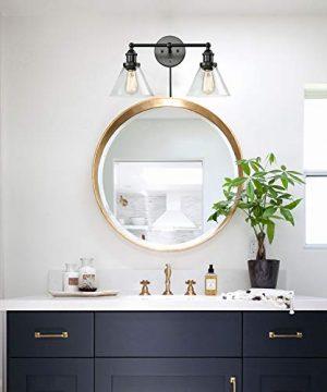 CLAXY Ecopower Lighting Mordern Glass Metal 3 Lights Wall Sconce 0 0 300x360