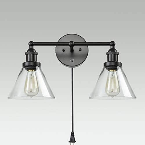 CLAXY Ecopower Lighting Mordern Glass Metal 3 Lights Wall Sconce 0 1