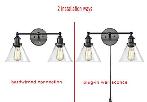 CLAXY Ecopower Lighting Mordern Glass Metal 3 Lights Wall Sconce 0 2