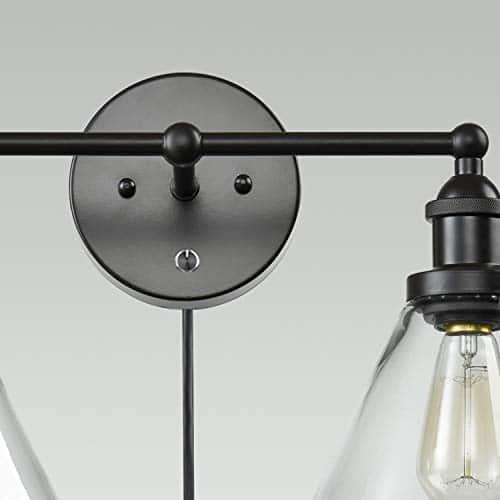 CLAXY Ecopower Lighting Mordern Glass Metal 3 Lights Wall Sconce 0 3