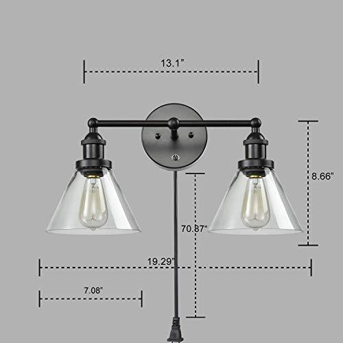 CLAXY Ecopower Lighting Mordern Glass Metal 3 Lights Wall Sconce 0 4