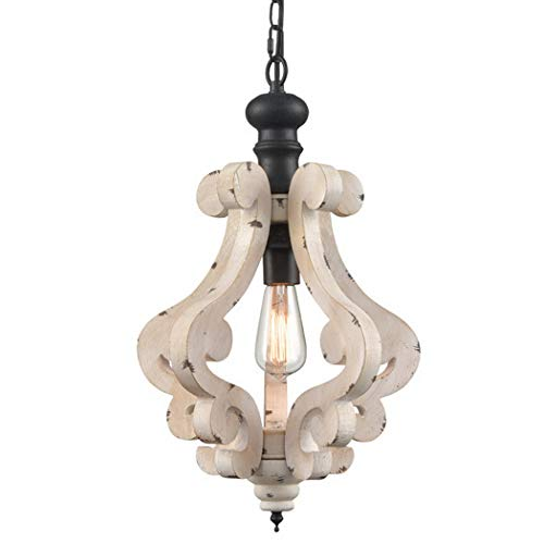 Claxy Wooden Pendant Light Distressing