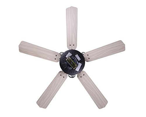 Canarm LTD CF52OTT5GPH Otto 52 Ceiling Fan 5 Rev Blades Silver OakWalnut 3 Light Graphite Metal Cage Shades Dual Mount No Limiter 0 3