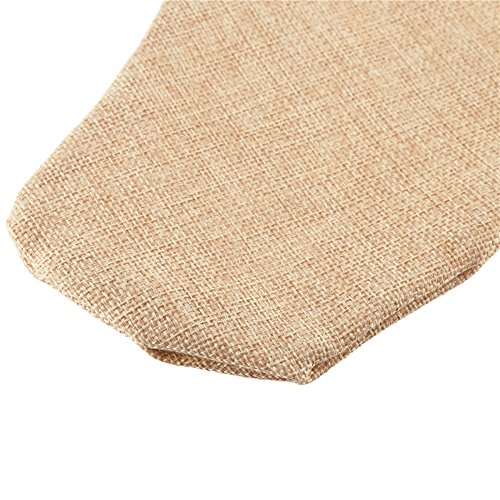 DECORA 215 Inch Natural Jute Burlap Christmas Stocking Fireplace Hanging For Gifts Goodies Handmade Projects Set Of 6 0 2