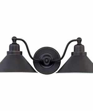 DYSMIO Lighting Two Lights Wall Sconce In Mission Dust Bronze And Metal Shade 1 Pack 0 300x360
