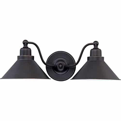 DYSMIO Lighting Two Lights Wall Sconce In Mission Dust Bronze And Metal Shade 1 Pack 0