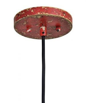 Distressed Industrial Red Round Pendant Light Kitchen Rustic Urban Cottage Hanging Dome Fixture 0 1 300x360
