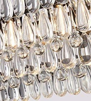 Edvivi 4 Light Antique Bronze Rectangular Linear Crystal Chandelier Dining Room Ceiling Fixture Light Glam Lighting 0 4 300x334