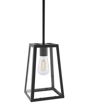 Ferramo Industrial Pendant Light Black Vintage Modern Hanging Light With LED Bulb LL P731 5BLK 0 300x360
