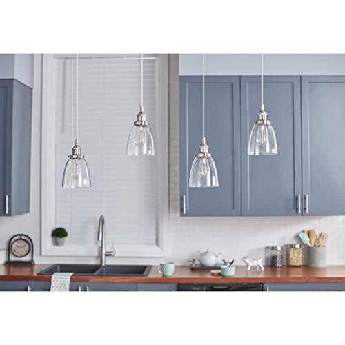 Fiorentino LED Brushed Nickel Pendant Light WClear Glass Shade Linea Di Liara LL P281 LED BN 0 2