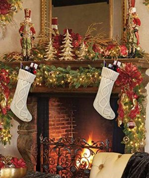 Free Yoka Cable Knit Christmas Stockings Kits Solid Color White Ivory Classic Decorations 18 Set Of 2 0 4 300x360