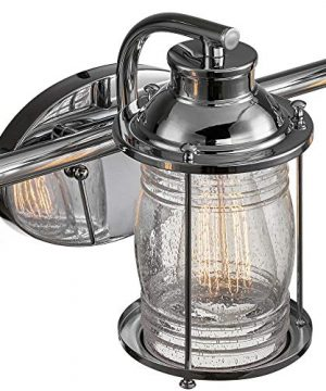 Globe Electric 51272 Bayfield 3 Vanity Light Chrome With Seeded Glass 0 1 300x360