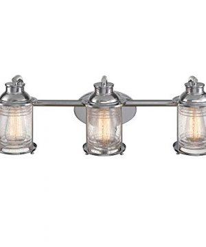 Globe Electric 51272 Bayfield 3 Vanity Light Chrome With Seeded Glass 0 300x360
